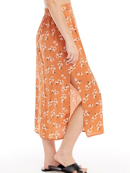 Gia Midi Skirt in Clay Ditsy Bunches