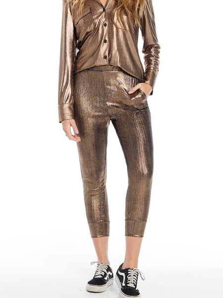 The Reny Pant in Metallic Daze