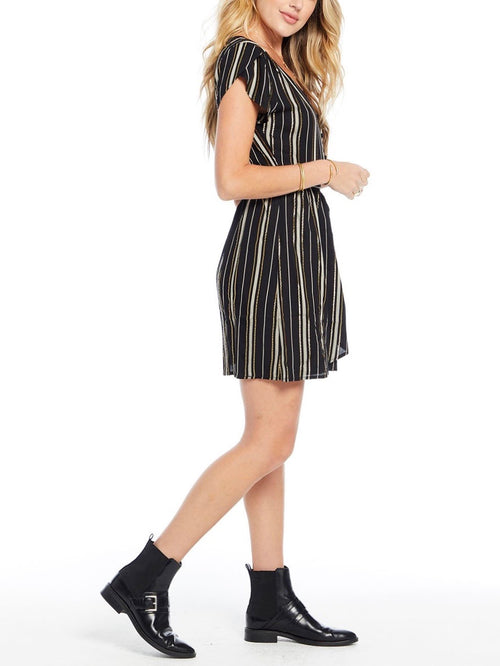 Penelope Mini Dress - Night Stripe