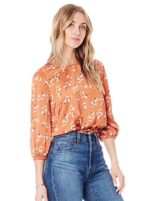 Becca Blouse in Clay Ditsy Bunches