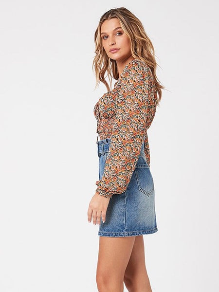 Fleetwood Floral Chiffon Top