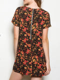 Autumn Poppy Shift Dress