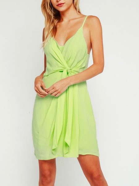 Low Down Dress in Emerald