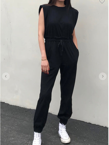 Pad Wow Jumpsuit in Black