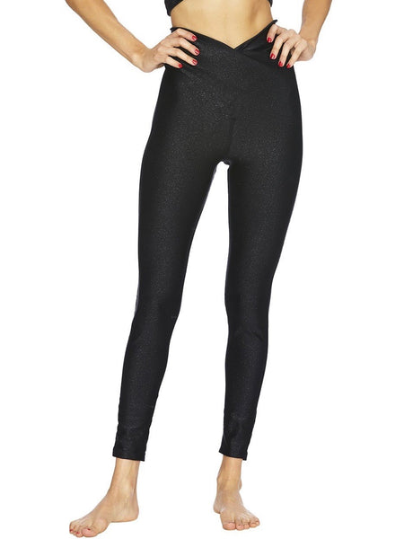 Twist Shine Legging in Black