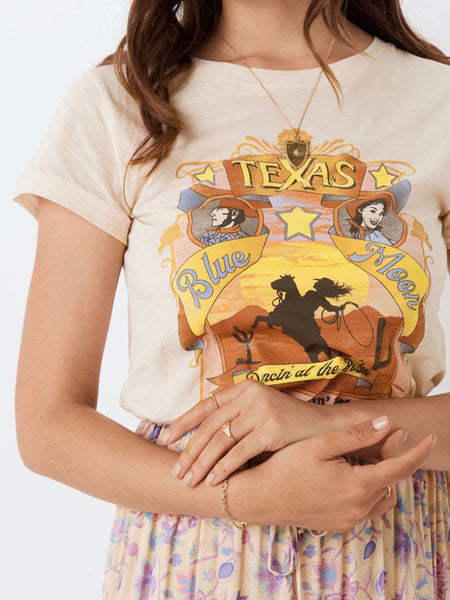 Texan Blue Moon Organic Girlfriend Tee