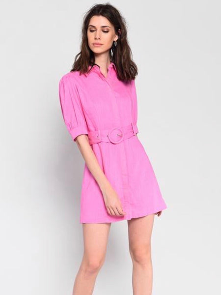 Pink Lady Belted Dress