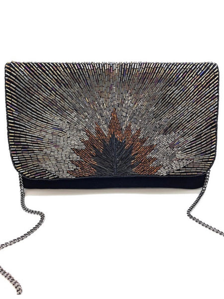 On The Prowl Beaded Clutch
