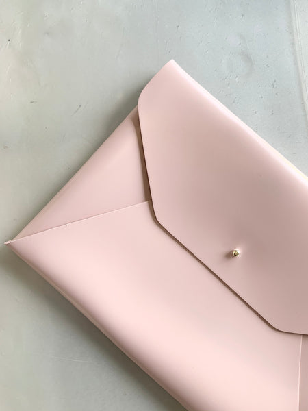 Leather Laptop Sleeve - Blush