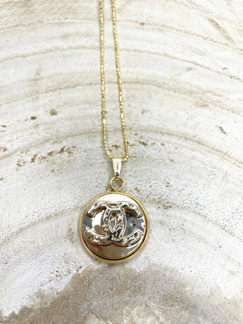 CC Gold Classic Charm Necklace