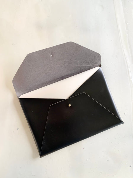 Leather Laptop Sleeve - Noir