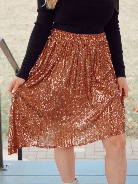 Last Dance Sequin Skirt