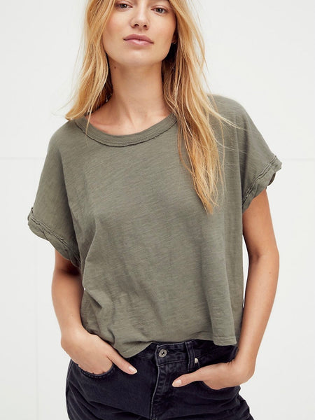 You Rock Tee in Washed Army