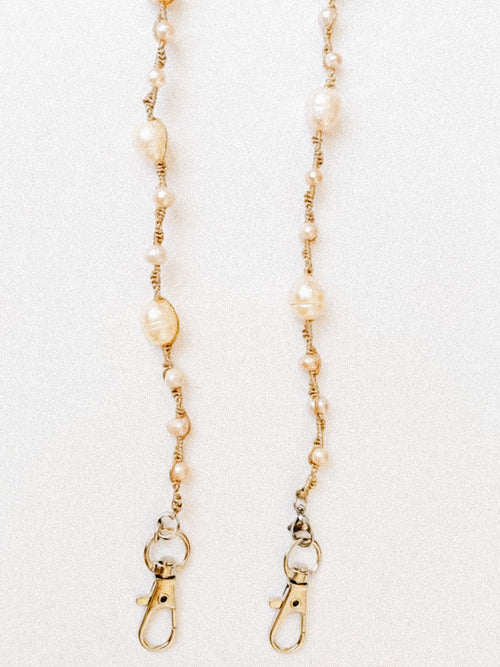 Pearls on Pearls Mask Chain in Ivory