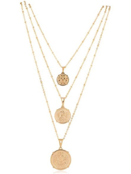 Emperor Coin Necklace 18in in Gold