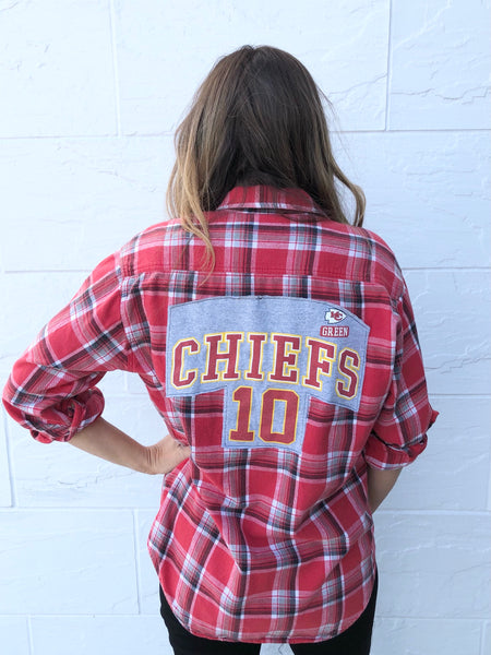 KC CHIEFS Reworked Flannel #1 Red