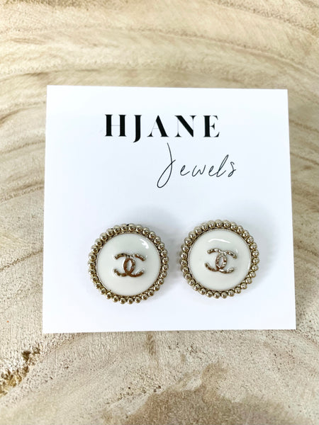 CC Black & Gold Rope Studs