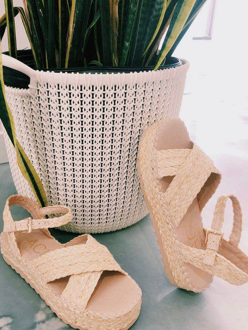 Sunshine Wicker Strap Sandal