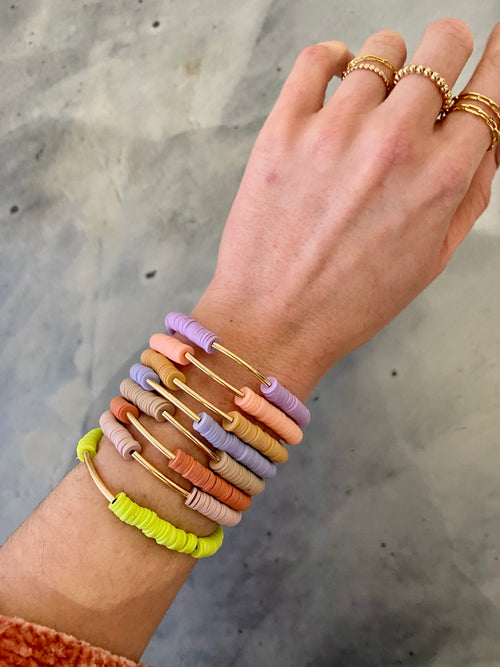 Onie + Sky Gold Bar Bracelet - Light Purple