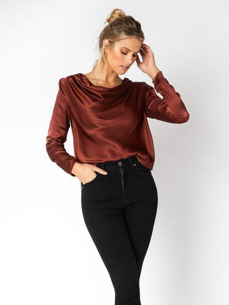 Mallory Satin Top