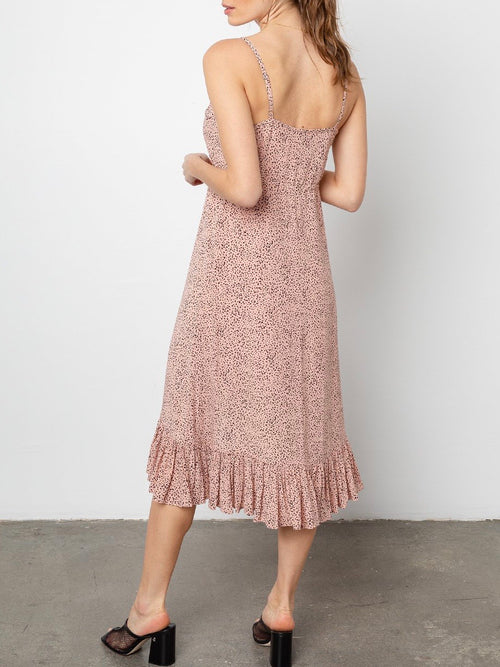Frida Dress in Rose Spotted