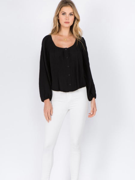 Danbury Pleated Blouse