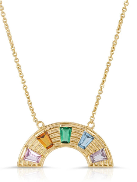 Rainbow Love Necklace - Rainbow