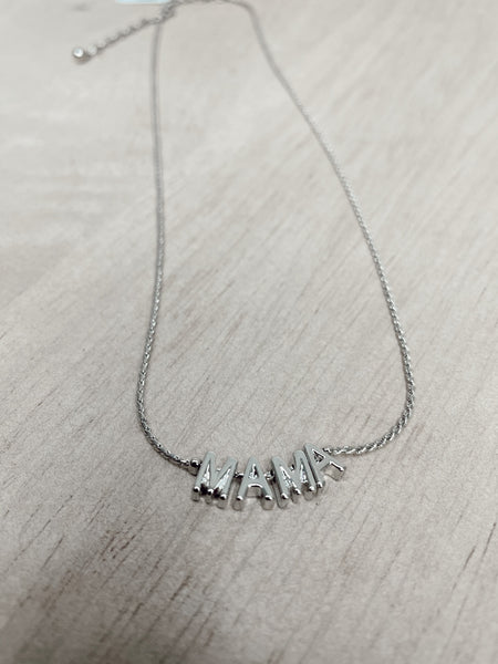 MAMA Chain Necklace in Silver
