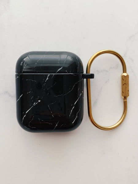 Black Marble Hard AirPod Case