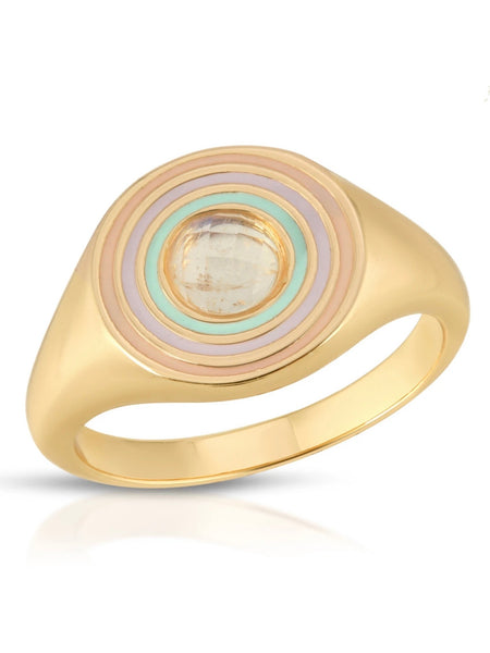 Chroma Signet Ring - Opal