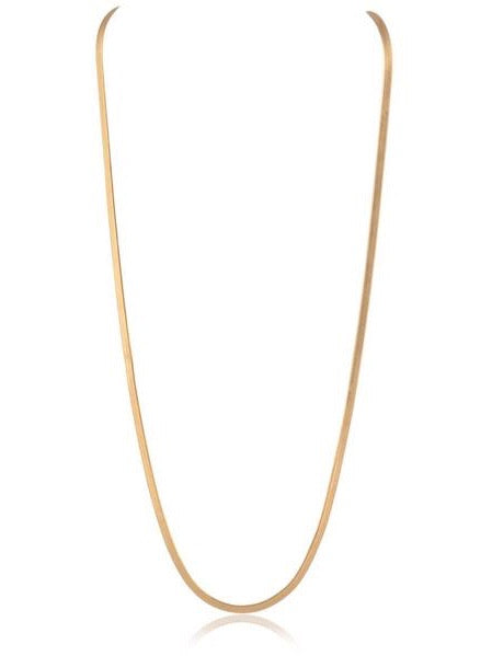 "Snake Chain Necklace 20"" in Gold"