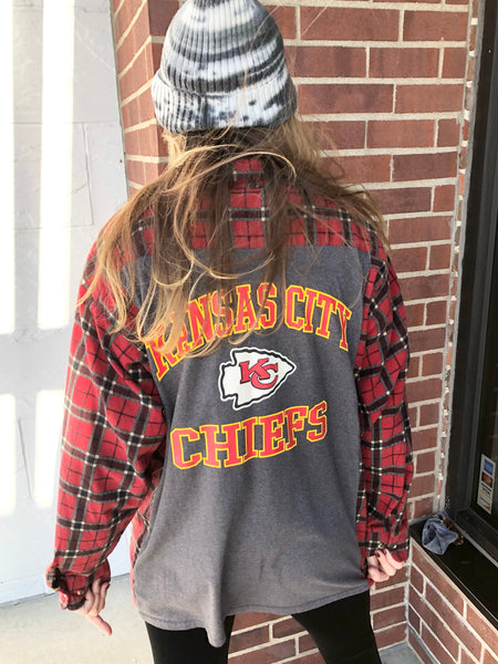 KC CHIEFS Reworked Flannel #12 Red