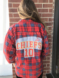 KC CHIEFS Reworked Flannel #13 Red