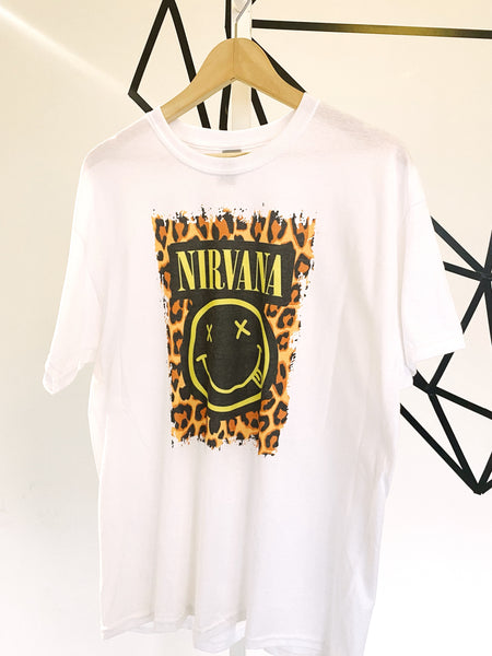 Nirvana Cheetah Graphic Tee