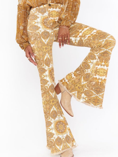 Berkeley Zip Up Bells in Golden Paisley