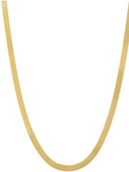 "Snake Chain Necklace 18"" in Gold"