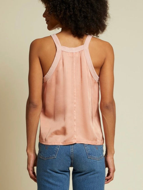Lakota V Neck Tank in Pink Glaze