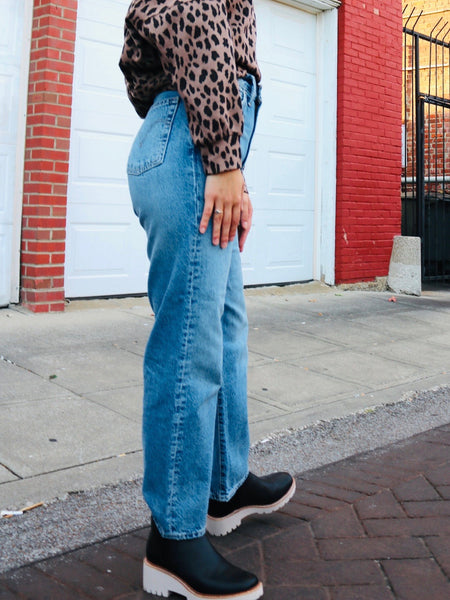 Straight Ankle Ribcage Jeans