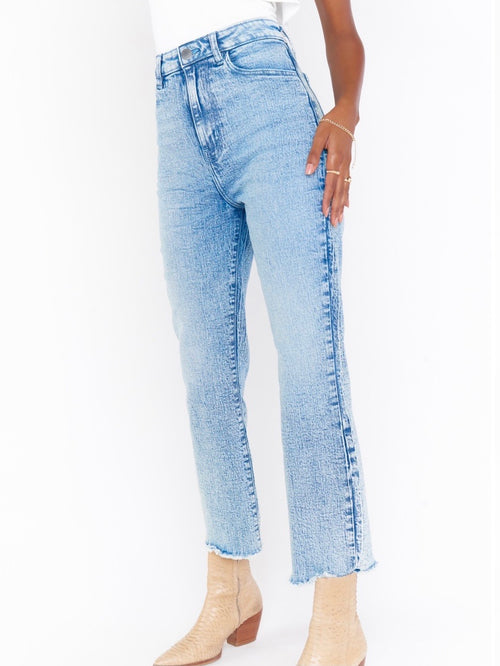 Manhattan Straight Jeans in Blue Stone
