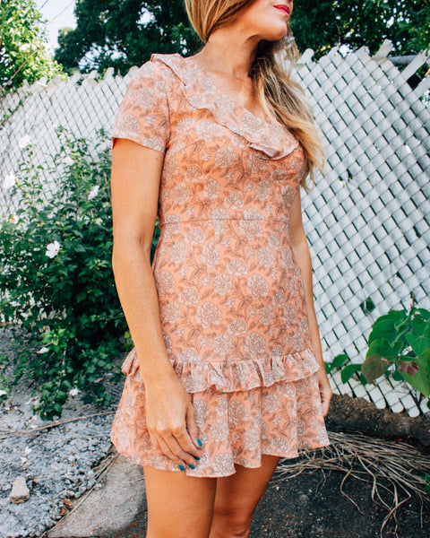 Pretty in Peach Floral Dress