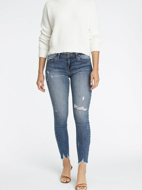 Audrey Mid Rise Denim in Hung Up