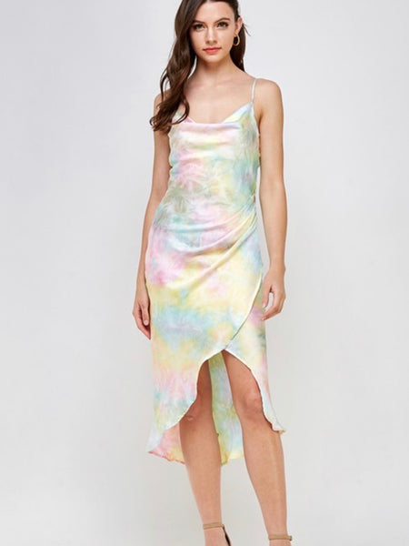 Slip-N-Silk Tie Dye Dress