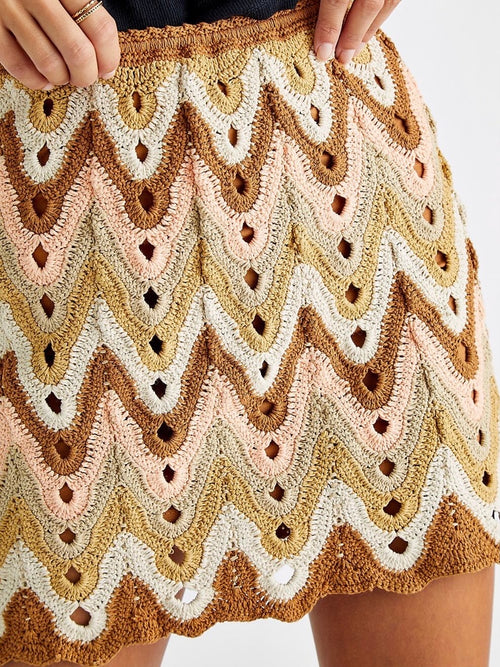 Heat of the Moment Crochet Skirt