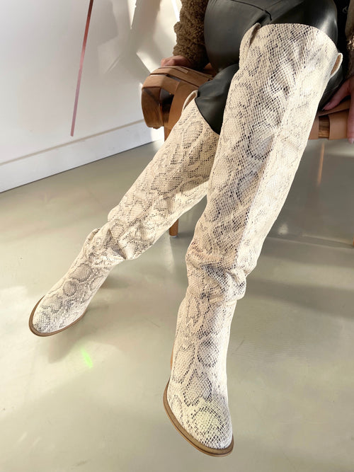 Saint Knee High Boot in Snake