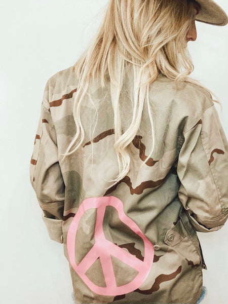 Peace Camp Camo Jacket - Pink Peace