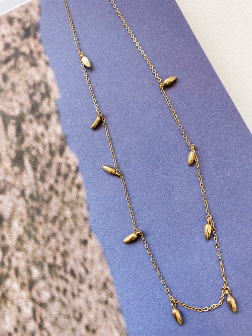 Lily Drop Chain Necklace
