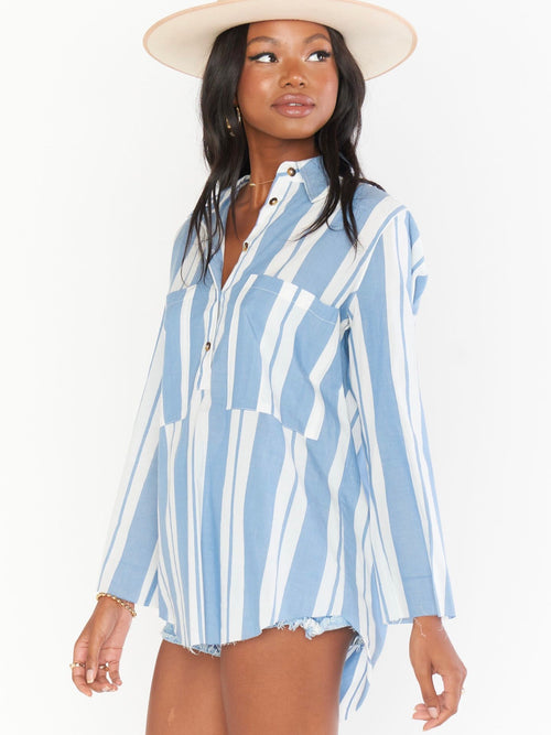 Stayton Tunic in Sailboat Stripe