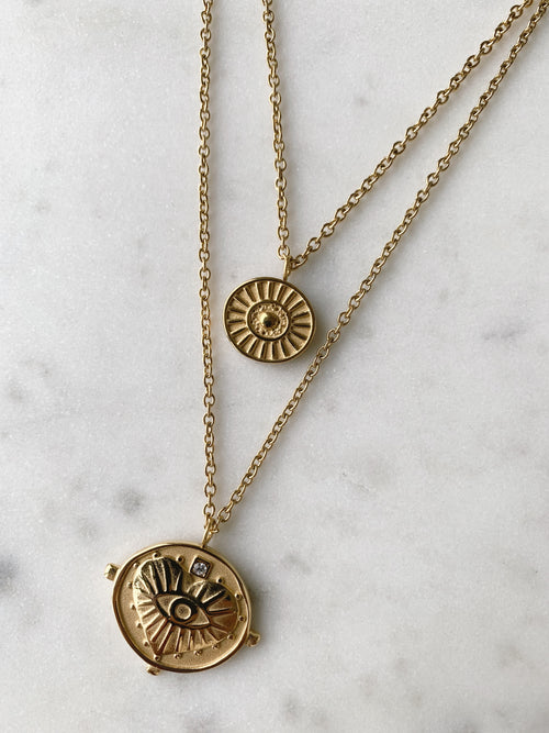Gigi Double Coin Necklace