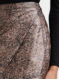 Printed Fake Out Faux Wrap Skirt