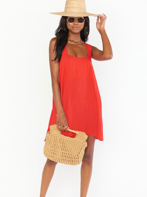 Ambres Mini Dress in Red